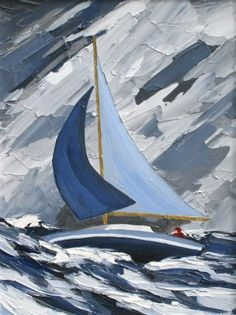 David Barnes artist paintings and art at the Red Rag Modern Art Gallery Sailboat Painting, Boat Art, Artist Painting, Rock Painting, Arte Pop, Modern Artists, Art Techniques, Painting Inspiration, Watercolor Art
