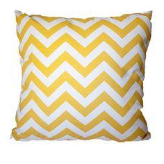 Cushion Yellow Chevron by Hamptons Style