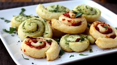Crispy, golden Pillsbury® crescents with a spiral of savory pesto make a simple, tasty appetizer!  Contributed by: Brooke McLay  www.cheekykitchen.com