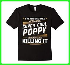 Mens Father's Day Shirt Super Cool Poppy Funny T Shirts XL Black - Holiday and seasonal shirts (*Amazon Partner-Link)