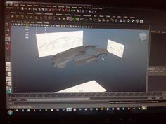 Process of modeling Lamborghini in Autodesk Maya