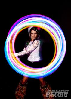 LED hoop Led Hula Hoop, Led Hoops, Light Trail Photography, Light Painting Photography, Rave Gear, Flow Arts, Light Trails, Elements Of Art, Photography Projects