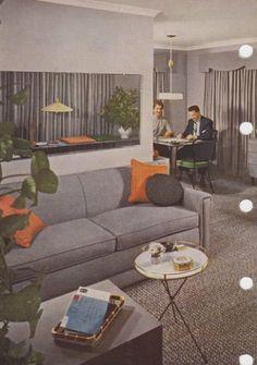 Retro Living Rooms, Interior And Exterior, Interior Design, Mid Century Modern Furniture, Better Homes And Gardens, Mid-century Modern, Home And Garden, Couch, Architecture