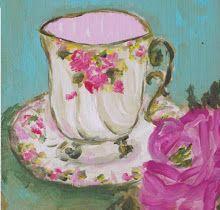 Susan Brown Tea cup & rose
