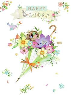 Happy Easter by Lynn Horrabin Easter Paintings, Easter Illustration, Easter Wallpaper, Easter Wishes, Happy Easter Greetings, Easter Pictures, Easter Parade, Easter Printables, Vintage Easter