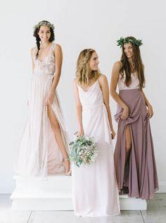 Mismatched bridesmaid looks from Joanna August