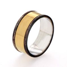 Men's Wedding Band 18k Gold Ring Mens Gold Band by arosha on Etsy, $420.00