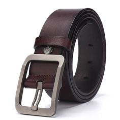 MG Men Waist Belt PU Leather Pin Buckle Business Casual Work Strap High Quality