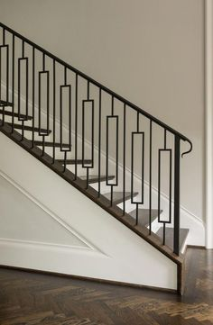 Best Love This Mid Century Modern Bannister Railing Home 400 x 300