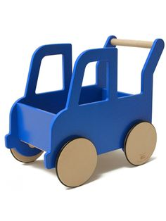 Shop for the Truck Push Cart. Classic walkers get a modern look with this wooden toy that helps balance. Explore our selection of high-quality baby toys. Wooden Projects, Wood Crafts, Making Wooden Toys, Wooden Truck, Push Toys, Bois Diy, Homemade Toys, Kids Wood, Wood Toys