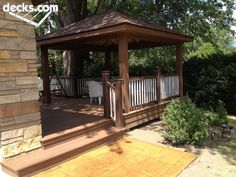 Timber Tech composite deck and a gazebo