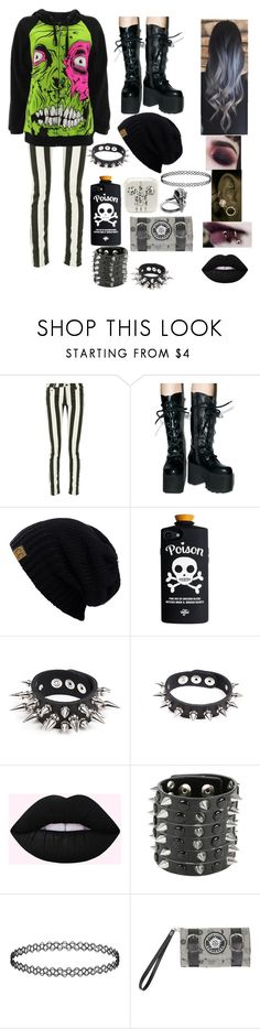 """Tim Burton Zombie"" by madimayfire116 ❤ liked on Polyvore featuring Off-White, Iron Fist, Apex, CENA and Hot Topic"