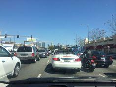 Santa Monica Blvd. traffic