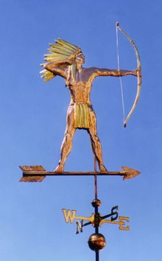 Native American With Bow Weathervane