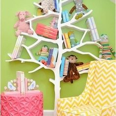 This tree bookcase is a unique and clever way to display a collection