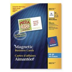 Create your own magnetic save the date cards with Avery Business Cards