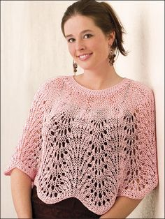 Free knitting pattern for Lacy Waves Poncho capelet by Sue Childress tba Woman& knitting patterns Capelet Knitting Pattern, Poncho Au Crochet, Knit Or Crochet, Knitted Shawls, Lace Knitting, Knitting Stitches, Knitting Patterns Free, Knit Patterns, Free Pattern