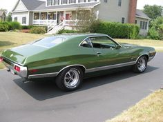 1972 Ford Gran Torino Sport Coupe -Ivey Glow Green Metallic Paint - I wanted very badly to own this car , but missed it by one year. Read my comments.
