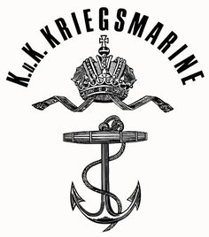 Illustration of KuK Kriegsmarine insignia seen stamped on material and papers. Bulgaria, Badges, Austrian Empire, Military Units, Naval, Austro Hungarian, Jaguar Cars, Ships, Venice