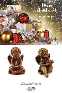 #Christmas #Chocolate Angel Christmas #Angel gift Handmade