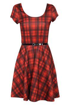 Mel Tartan Skater Dress