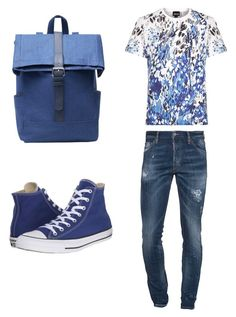 """""""For young men"""" by rossella-castaldo on Polyvore featuring Just Cavalli, Dsquared2, Converse, MANGO, men's fashion and menswear"""