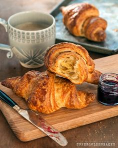 Quick and easy croissants from scratch | Supergolden Bakes