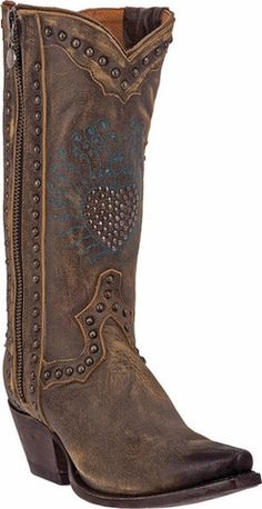 Corral Womens Brown Patch Overlay Boots C2902 SZ 9