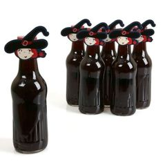 Bewitching Bash  Shaped Halloween Party Favors Bottle Toppers  12 Count >>> Click image to review more details.