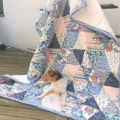 Handmade quilt by featuring Monteverde fabric by Hawthorne Threads Ufo, Monteverde, Quilting, Blanket, Sewing, Instagram, Fabric, Handmade, Scrappy Quilts