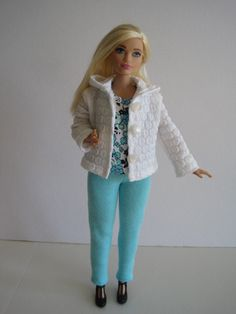 CURVY BARBIE White Jacket Outfit by glissando on Etsy