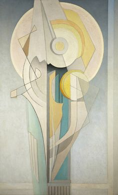 """Abstract (Vertical),"" Lawren Harris, ca. oil on canvas, 48 x 30 Art Gallery of Hamilton. Canadian Painters, Canadian Artists, Art Gallery Of Hamilton, Abstract Expressionism, Abstract Art, Degenerate Art, Group Of Seven, Cubism Art, Surreal Art"