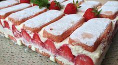 fraisier facile aux biscuits roses de reims
