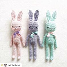 Wynne the Bunny is a darling little amigurumi featuring custom Liberty designed clothing Crochet Rabbit Free Pattern, Crochet Bunny, Crochet Animals, Diy Crochet, Crochet Dolls, Crochet Stitches Patterns, Amigurumi Patterns, Crochet Fairy, Color Menta