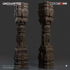 ArtStation - Uncharted: The Lost Legacy - Shiva Temple Ruins Pillar, Sandra Soh