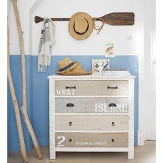 Commode en bois blanche L 90 cm