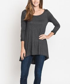 Love this Charcoal Hi-Low Tunic on #zulily! #zulilyfinds