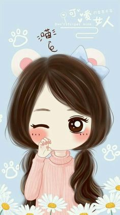 cute girly wallpapers for iphone 5 - 2018 wallpapers hd Kawaii Chibi, Cute Chibi, Kawaii Anime Girl, Kawaii Cute, Anime Art Girl, Cartoon Girl Images, Cute Cartoon Girl, Cute Love Cartoons, Anime Quotes Tumblr