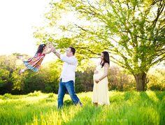fun family maternity picture
