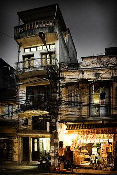 Street in Hanoi where Michael may have stayed undercover.