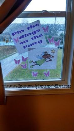 Free printable...pin the wings on the fairy game. Fairy tea party birthday ideas