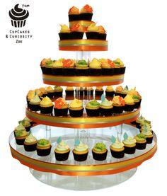 Banana leaf cupcake.. Hibiscus orange cupcake.. blue shell cupcake.. Pineapple yellow cupcake..