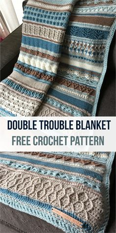 Double Trouble Crochet Blanket is one of the most beautiful blankets I've ever had .,Double Trouble Crochet Blanket is one of the most beautiful blankets I've ever had . Make crochet covers yourself. Crochet Afghans, Baby Blanket Crochet, Crochet Stitches, Crochet Hooks, Crochet Baby, Knit Crochet, Crochet Blankets, Tunisian Crochet Blanket, Crochet Pillow