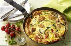Hähnchen-Gemüse-Frittata - Low carb Rezepte für jeden Tag