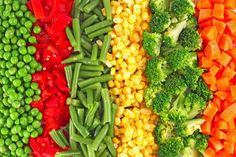bright collage of healthy vegetables