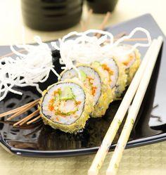Shrimp Tempura with Fried Harusame Noodles