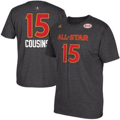 DeMarcus Cousins adidas 2017 All-Star Game Name & Number T-Shirt - Charcoal Camisa Adidas, Adidas Shirt, All Star, Suede Sneakers, Grey Sneakers, Sneakers Women, Distressed Denim Jeans, Ripped Denim, Adidas Campus