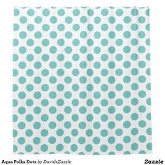 Aqua Polka Dots Shower Curtain Available on many products! Hit the 'available on' tab near the product description to see them all! Thanks for looking!  @zazzle #art #polka #dots #shop #home #decor #bathroom #bedroom #bath #bed #duvet #cover #shower #curtain #pillow #case #apartment #decorate #accessory #accessories #fashion #style #women #men #shopping #buy #sale #gift #idea #fun #sweet #cool #neat #modern #chic #blue #aqua #light #dark #white