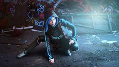 Stealth version of Dex cosplayed by Sygnia. Dex - 2D cyberpunk indie RPG game - www.dex-rpg.com