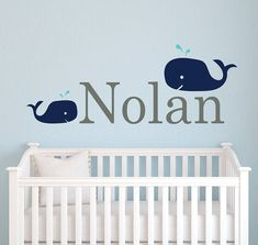Name Wall Decal Whale  Nursery Wall Decals  by LovelyDecalsWorld, $28.00